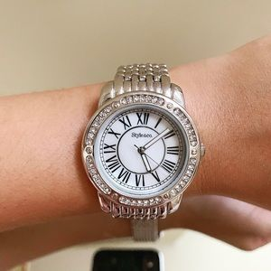 Style&Co. Women's Silver Tone Bracelet Watch 37mm